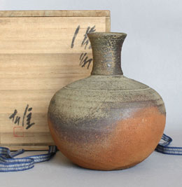 Bizen Vase Hanaike Living National Treasure Japan